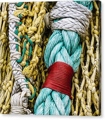 Fishing Net Detail Canvas Print by Carol Leigh