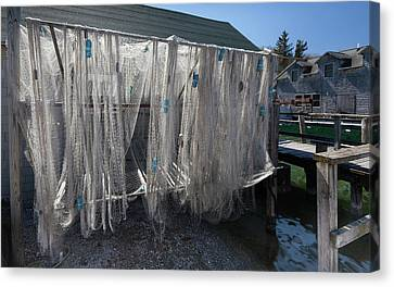 Canvas Print featuring the photograph Fishing Net by Fran Riley
