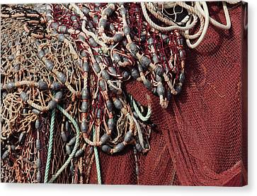 Fishing Nets And Led Weights Canvas Print