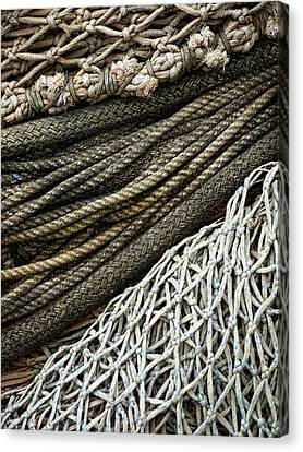 Fishing Nets Canvas Print by Carol Leigh