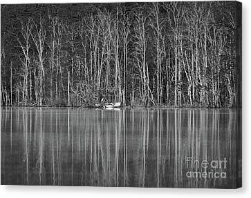 Canvas Print featuring the photograph Fishing Norris Lake by Douglas Stucky