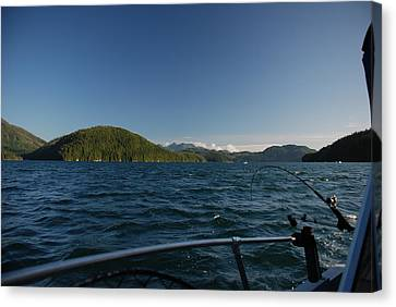 Fishing Off Hisnit Inlet Canvas Print