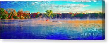Fishing On Crystal Lake, Il., Sport, Fall Canvas Print