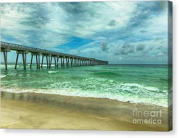 Panama City Beach Canvas Print - Fishing Pier by Judy Hall-Folde