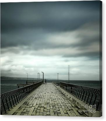 Canvas Print featuring the photograph Fishing Pier by Perry Webster