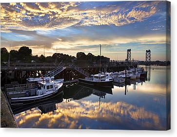 Fishing Pier Sunset Canvas Print by Eric Gendron