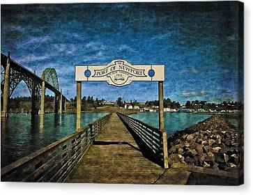 Beach Theme Decorating Canvas Print - Fishing Pier by Thom Zehrfeld