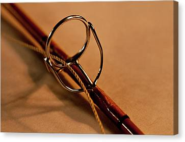 Fishing Pole Ring Canvas Print by Wilma  Birdwell