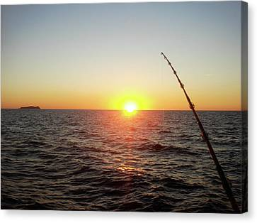 Fishing Pole Taken On 35mm Film Canvas Print