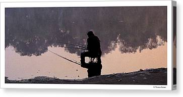 Canvas Print featuring the photograph Fishing by R Thomas Berner