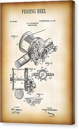 Fishing Reel Patent  1907 Canvas Print