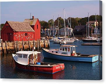 Fishing Shack Canvas Print by John Scates