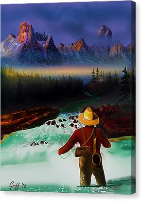 Fishing The High Country Canvas Print