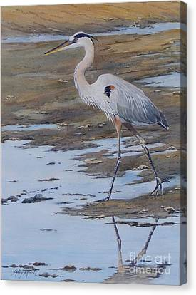 Fishing The Mud Flats...sold  Canvas Print