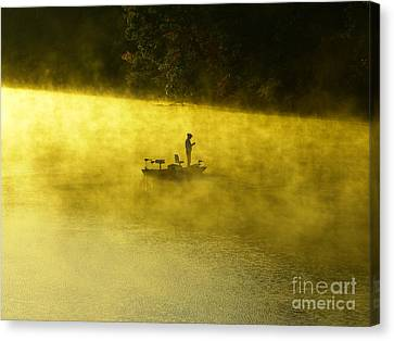 Fishing The Prettyboy Reservoir Canvas Print