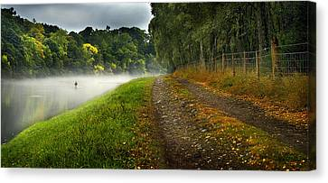 Fishing The River Beauly Canvas Print