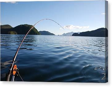 Fishing Tlupana Inlet Canvas Print