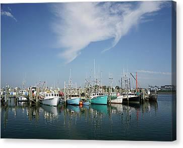 Fishing Vessels At Galilee Rhode Island Canvas Print