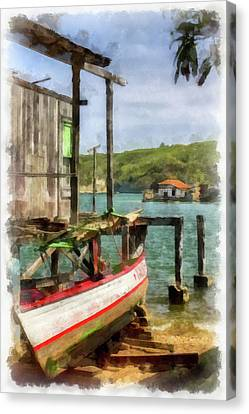 Fishing Village Canvas Print by Dawn Currie