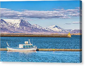 Canvas Print featuring the photograph Fishing by Wade Courtney