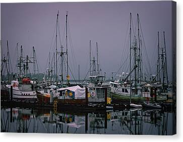 Fishing Wharf In Clearing Mist Canvas Print