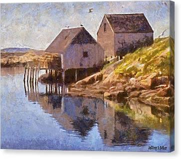 Fishing Wharf Canvas Print by Jeffrey Kolker