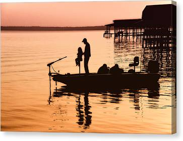 Fishing With Daddy Canvas Print