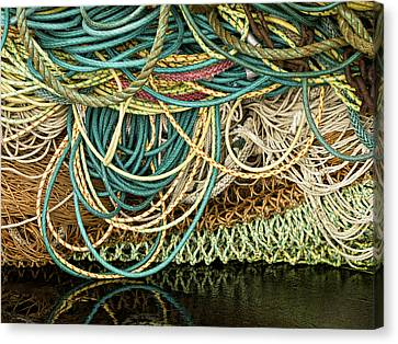 Fishnets And Ropes Canvas Print by Carol Leigh