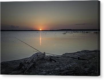 Fishing Poles Canvas Print