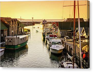 Canvas Print featuring the photograph Fishtown by Alexey Stiop