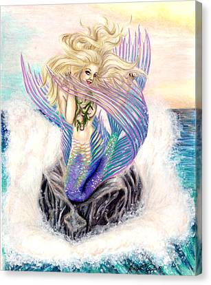 Fishy Flirtation Canvas Print by Scarlett Royal