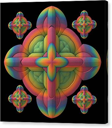 Canvas Print featuring the digital art Fit To A Tee by Lyle Hatch