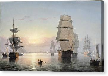 Fitz Henry Lane Canvas Print by Boston Harbor