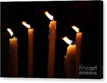 Five Candles Canvas Print by Marina McLain