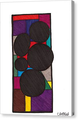 Five Dark Discs Canvas Print by Teddy Campagna