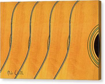 Five Fender Guitars Canvas Print by Bob Orsillo