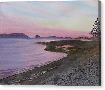 Canvas Print featuring the painting Five Islands - Bay Of Fundy by Joel Deutsch