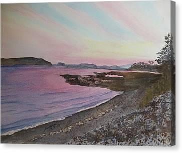 Canvas Print featuring the painting Five Islands - Draft IIi by Joel Deutsch