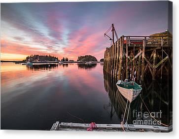 Five Islands Sunrise Reflections Canvas Print by Benjamin Williamson