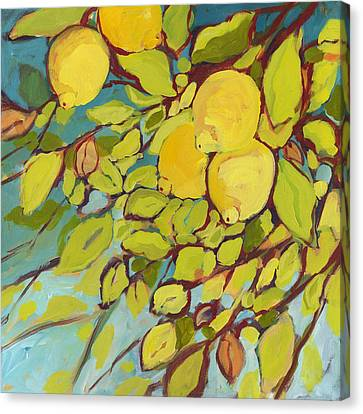 Fruit Canvas Print - Five Lemons by Jennifer Lommers