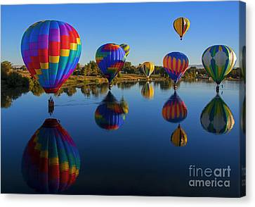 Five On The Water Canvas Print by Mike Dawson