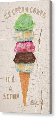 Five Scoops Canvas Print