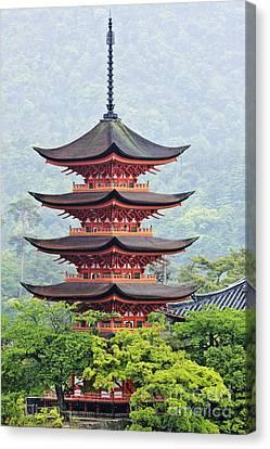 Miyajima Canvas Print - Five-storied Pagoda by Jeremy Woodhouse