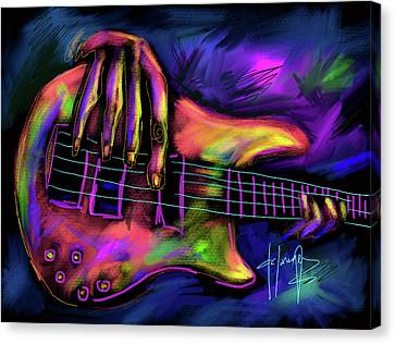 Five String Bass Canvas Print