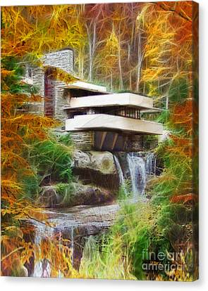 Fixer Upper - Frank Lloyd Wright's Fallingwater Canvas Print
