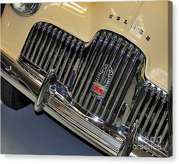 Fj Holden - Front End - Grill Canvas Print by Kaye Menner