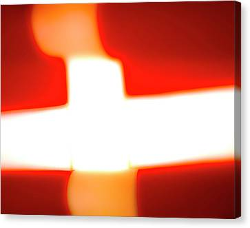 Flag Abstract II Canvas Print by Jan W Faul