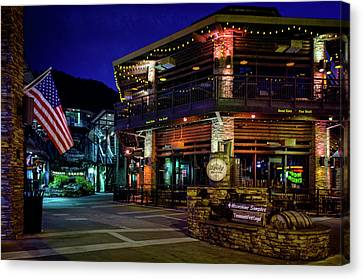Gatlinburg Tennessee Canvas Print - Flag And Moonshine by Greg Mimbs