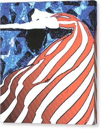 Flag Dancer Canvas Print by Linda Crockett