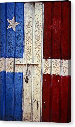 Flag Door Canvas Print by Garry Gay